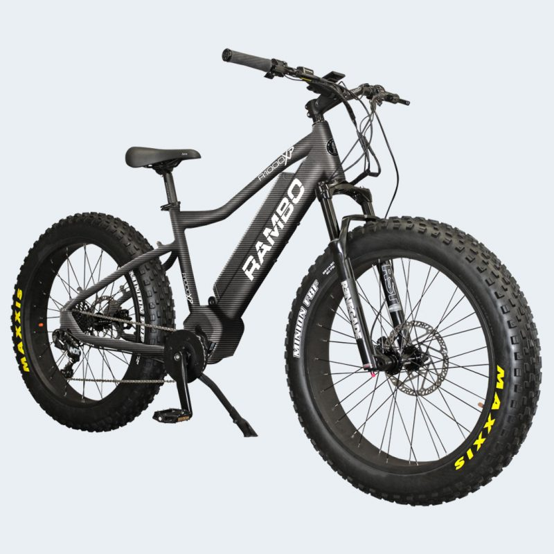 Front Corner View of 2019 1000XPS Carbon Electric Bike