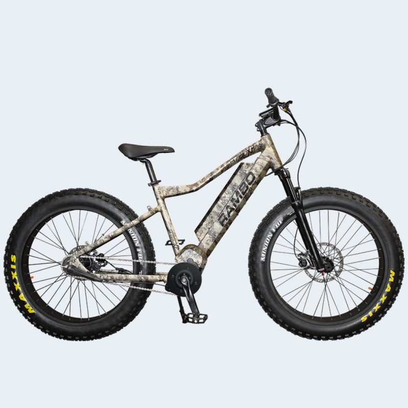 Side view of Rambo 2019 750XPS Viper Western Camo Electric Bike