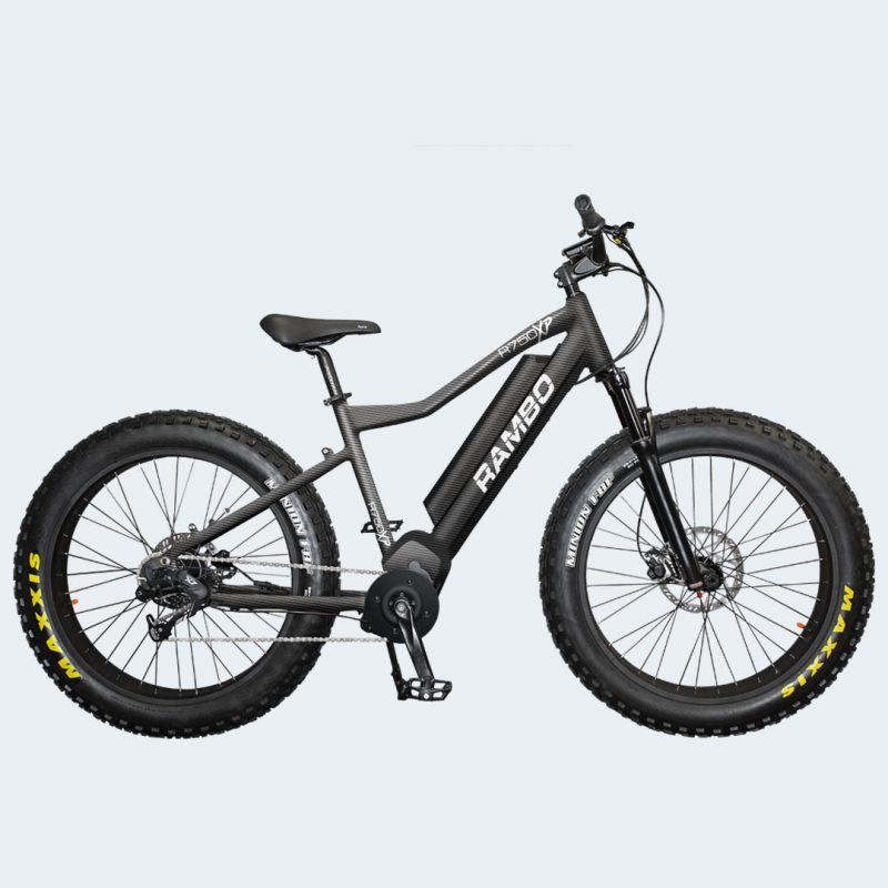 Side view of Rambo 750XPS Carbon Electric Bike
