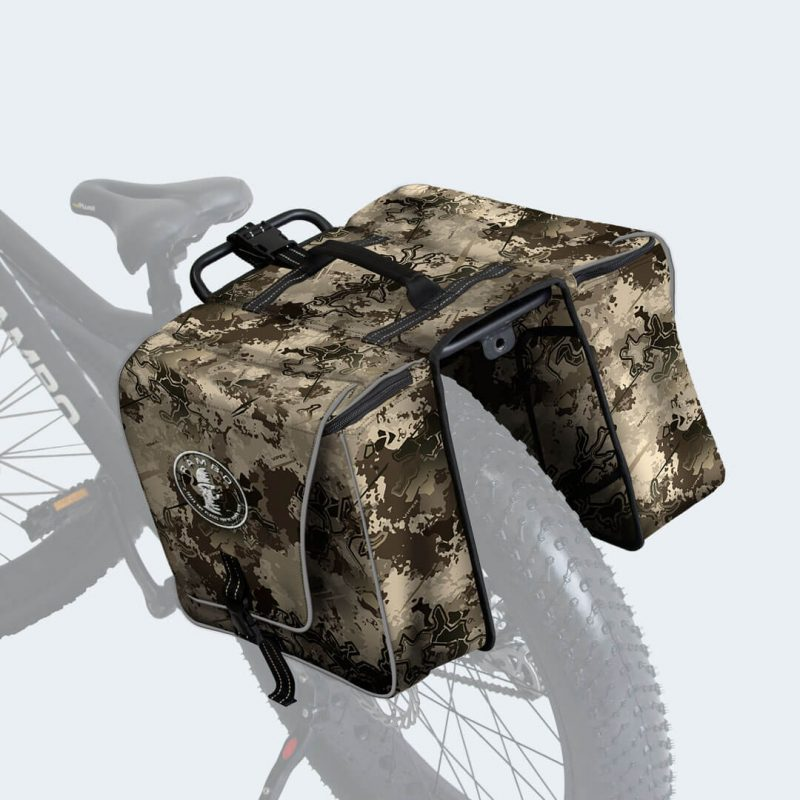 On bike view of True Timber Viper Western Accessory Bag by Rambo Bikes