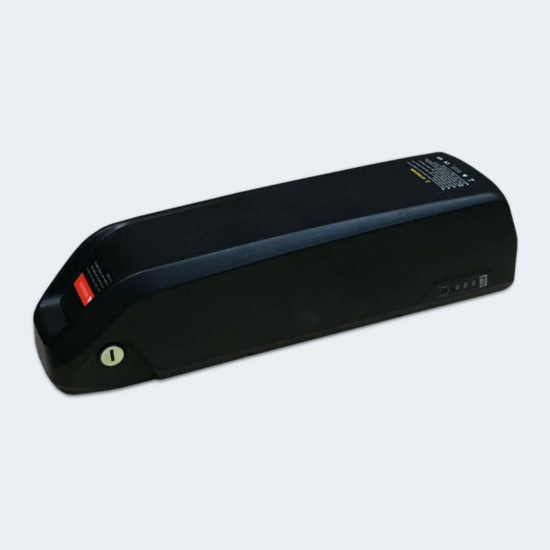 Side view of spare black battery for Rambo E-Bikes 350 and 350 G3