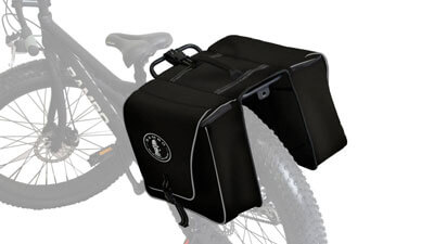Rear view of Full Accessory Saddle Bag for Rambo Electric Bikes