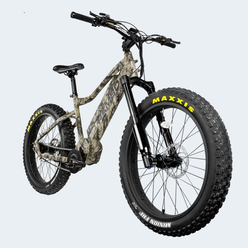 Front angle view of Rambo Bushwacker EBike