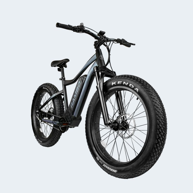 Front angle view of The Rambo Pursuit EBike